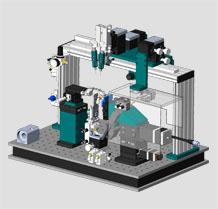 WDM透射端自动耦合封装系统